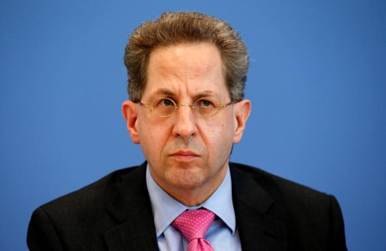 Hans-Georg Maassen, Germany's head of the German Federal Office for the Protection of the Constitution (Bundesamt fuer Verfassungsschutz) addresses a news conference in Berlin, Germany, in this file photo dated June 28, 2016.    REUTERS/Fabrizio Bensch