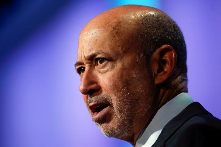Goldman Sachs Group, Inc. Chairman and Chief Executive Officer Lloyd Blankfein speaks at the Clinton Global Initiative 2014 (CGI) in New York, September 24, 2014. REUTERS/Shannon Stapleton/File Photo