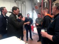 Visitors taste Pisner beer at the Norrebro Bryghus in Hedehusene, Denmark, May 4, 2017.  REUTERS/Julie Astrid Thomsen