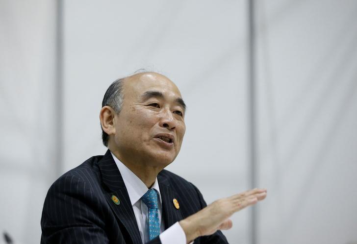 IMF Deputy Managing Director Mitsuhiro Furusawa speaks during an interview with Reuters at Asian Development Bank (ADB)'s annual meeting in Yokohama, south of Tokyo, Japan May 5, 2017. REUTERS/Issei Kato
