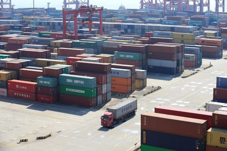 2017年2月13日,中国上海,洋山深水港。REUTERS/Aly Song