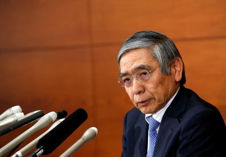 Bank of Japan (BOJ) Governor Haruhiko Kuroda attends a news conference at the BOJ headquarters in Tokyo, Japan April 27, 2017. REUTERS/Kim Kyung-Hoon