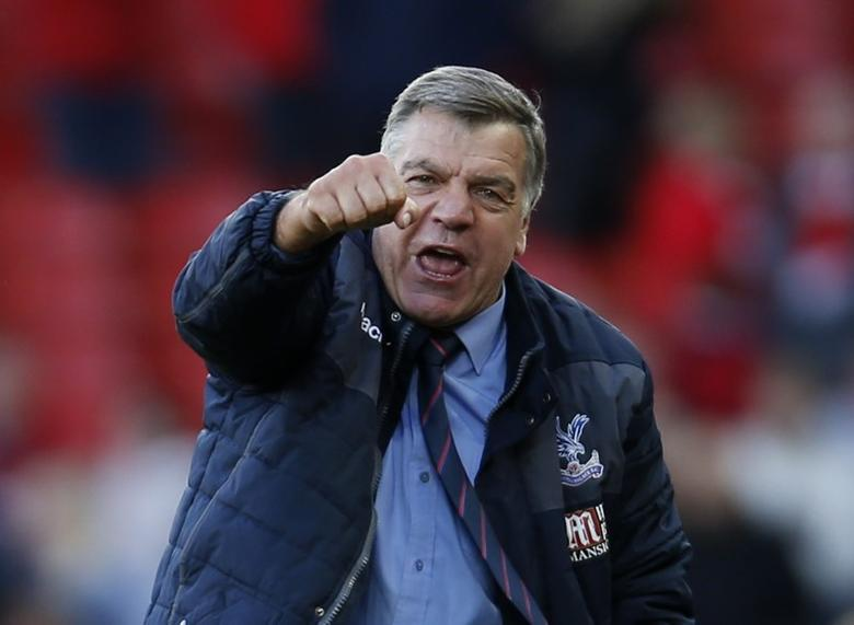 Britain Football Soccer - Liverpool v Crystal Palace - Premier League - Anfield - 23/4/17 Crystal Palace manager Sam Allardyce celebrates after the match  Action Images via Reuters / Paul Childs Livepic