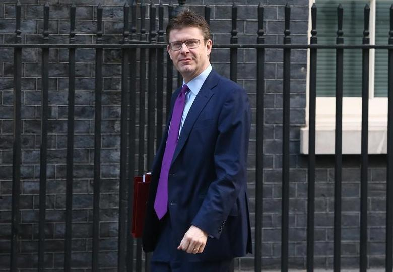 FILE PHOTO: Britain's Secretary of State for Business Greg Clark arrives for a cabinet meeting in Downing Street, London, January 17, 2017. REUTERS/Neil Hall