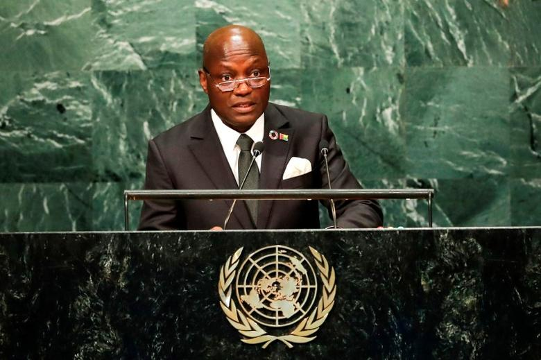 Guinea-Bissau's President Jose Mario Vaz addresses the United Nations General Assembly in the Manhattan borough of New York, U.S. September 21, 2016.   REUTERS/Eduardo Munoz