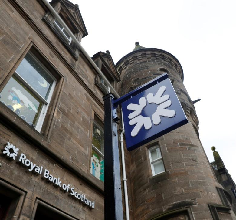 The Royal Bank of Scotland is seen in the High Street in Linlithgow, Scotland, Britain February 8, 2017. REUTERS/Russell Cheyne
