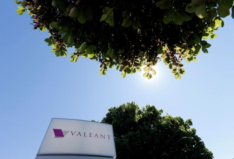 FILE PHOTO: A sign for the headquarters of Valeant Pharmaceuticals International Inc is seen in Laval, Quebec June 14, 2016.   REUTERS/Christinne Muschi/File Photo