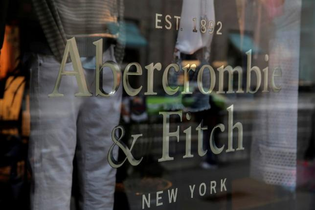 FILE PHOTO: Signage is seen at the Abercrombie & Fitch store on Fifth Avenue in Manhattan, New York City, U.S., February 27, 2017. REUTERS/Andrew Kelly/File Photo