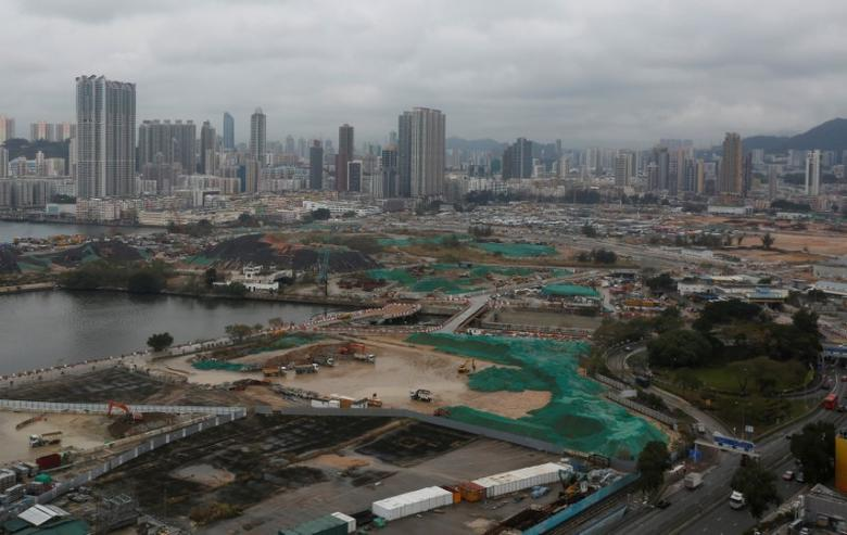 FILE PHOTO: General view of land development at the Kai Tak area, which is the location of city's former airport, in Hong Kong, China March 14, 2017. REUTERS/Bobby Yip