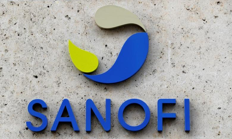 FILE PHOTO - French multinational pharmaceutical company SANOFI logo seen at their headquaters in Paris, France, March 8, 2016. REUTERS/Philippe Wojazer/File Photo