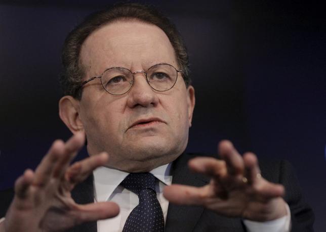 5月11日、欧州中央銀行(ECB)のコンスタンシオ副総裁は、信用バブルのリスクを軽減するため、転担保(担保の再利用)に対する規制を強化する必要があると述べた。写真はニューヨークで昨年2月撮影(2017年 ロイター/Brendan McDermid)