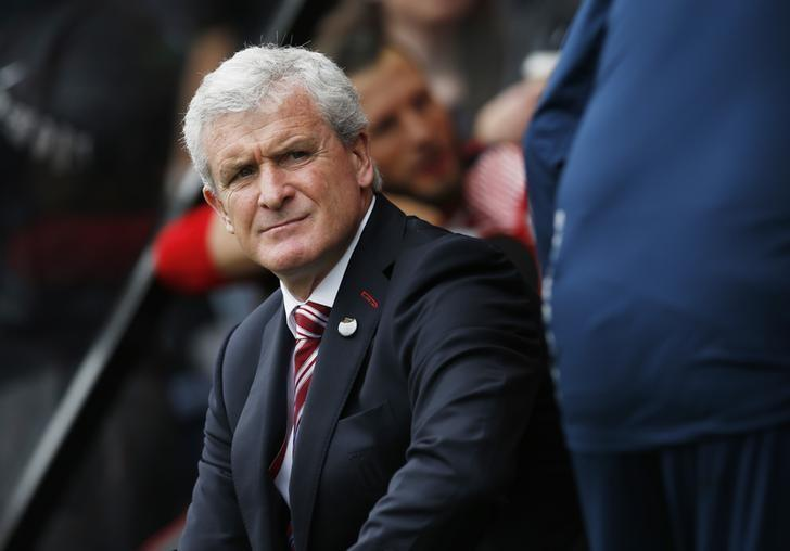 Britain Soccer Football - AFC Bournemouth v Stoke City - Premier League - Vitality Stadium - 6/5/17 Stoke City manager Mark Hughes before the match  Action Images via Reuters / Andrew Couldridge Livepic
