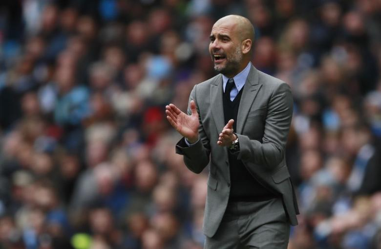 Britain Soccer Football - Manchester City v Crystal Palace - Premier League - Etihad Stadium - 6/5/17 Manchester City manager Pep Guardiola  Action Images via Reuters / Jason Cairnduff Livepic