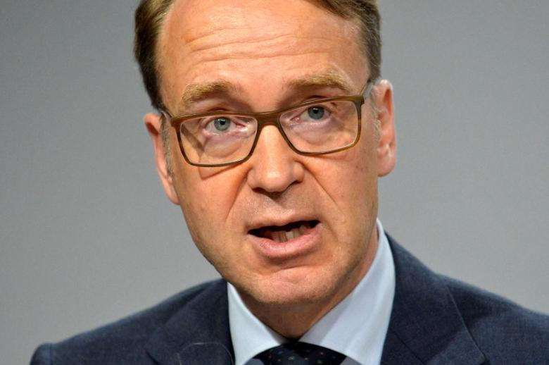 Bundesbank President Jens Weidmann makes remarks at a press briefing during the IMF and World Bank's 2017 Annual Spring Meetings, in Washington, U.S., April 21, 2017.   REUTERS/Mike Theiler