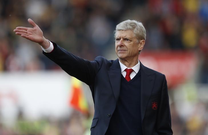 Britain Football Soccer - Stoke City v Arsenal - Premier League - bet365 Stadium - 13/5/17 Arsenal manager Arsene Wenger  Action Images via Reuters / Carl Recine Livepic