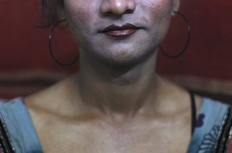 FILE PHOTO: Seema, a transgender, is pictured inside a local NGO office in New Delhi May 15, 2012. REUTERS/Adnan Abidi/Files