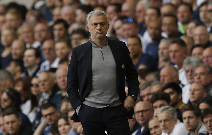 Britain Soccer Football - Tottenham Hotspur v Manchester United - Premier League - White Hart Lane - 14/5/17 Manchester United manager Jose Mourinho  Action Images via Reuters / Andrew Couldridge Livepic