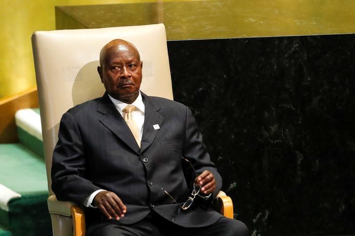 Ugandan President Yoweri Kaguta Museveni waits to address the United Nations General Assembly in the Manhattan borough of New York, U.S. September 20, 2016.   REUTERS/Eduardo Munoz/Files