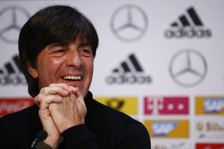 Football Soccer - Germany Press Conference - German Football Museum, Kamen, Germany - 21/3/17 Germany's coach Joachim Loew during the press conference Reuters / Wolfgang Rattay Livepic/Files