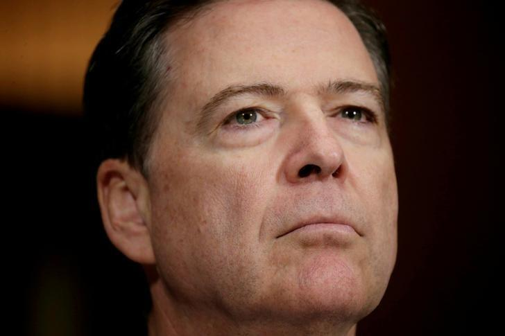 FBI Director James Comey arrives to testify before a Senate Judiciary Committee hearing on ''Oversight of the Federal Bureau of Investigation'' on Capitol Hill in Washington, U.S., May 3, 2017. REUTERS/Kevin Lamarque/Files