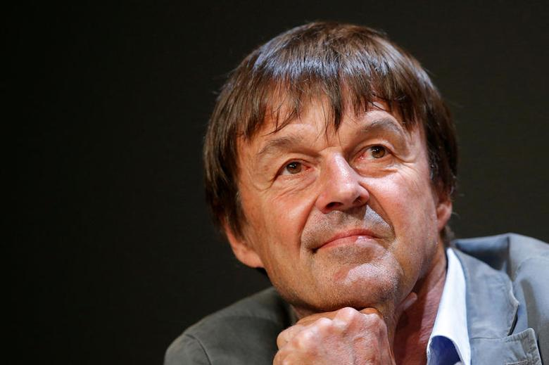 FILE PHOTO - French environmental activist Nicolas Hulot attends a news conference May 31, 2016 in Nantes, France. Nicolas Hulot is appointed French Ecology Minister in Paris, France, May 17, 2017. Picture taken May 31, 2016.   REUTERS/Stephane Mahe/File Photo
