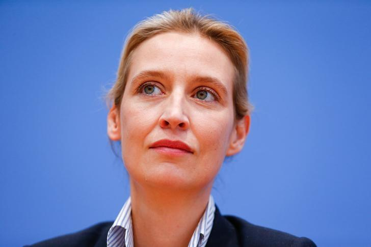 Alice Weidel of the anti-immigration party Alternative for Germany (AFD) arrives for a meeting after the Schleswig-Holstein regional state elections, in Berlin, Germany, May 8, 2017. REUTERS/Hannibal Hanschke