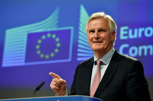 European Chief Negotiator for Brexit Michel Barnier speaks during a news conference in Brussels, Belgium May 3, 2017. REUTERS/Eric Vidal