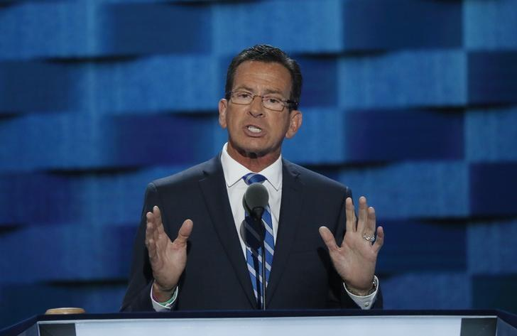 Connecticut governor Dannel Malloy speaks at the Democratic National Convention in Philadelphia, Pennsylvania, U.S. July 25, 2016. REUTERS/Mike Segar