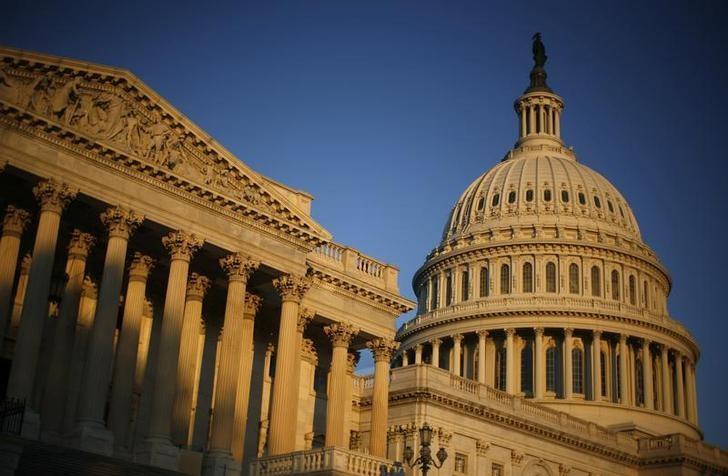 资料图片:2008年11月,清晨时分的美国国会大厦。REUTERS/Jim Young