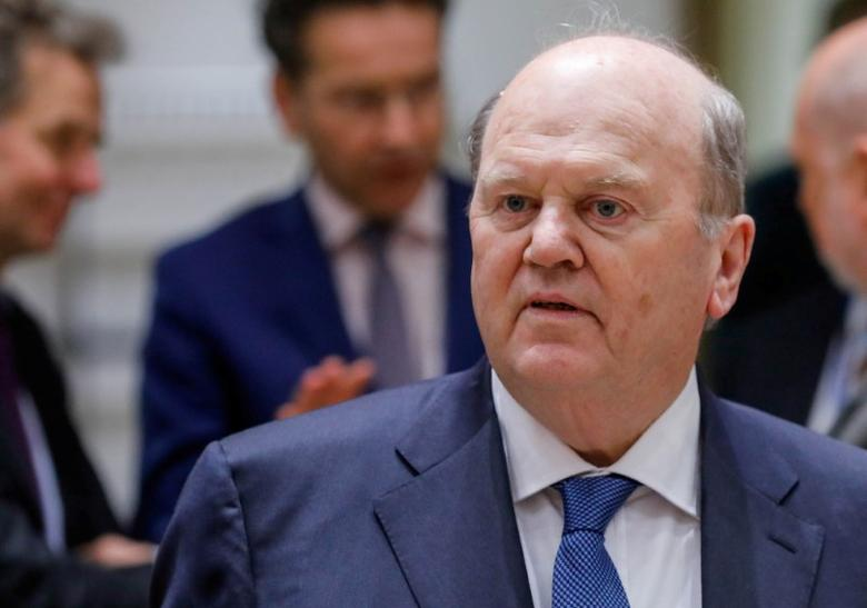 Irish Minister for Finance Michael Noonan takes part in a euro zone finance ministers meeting in Brussels, Belgium March 20, 2017. REUTERS/Yves Herman/Files