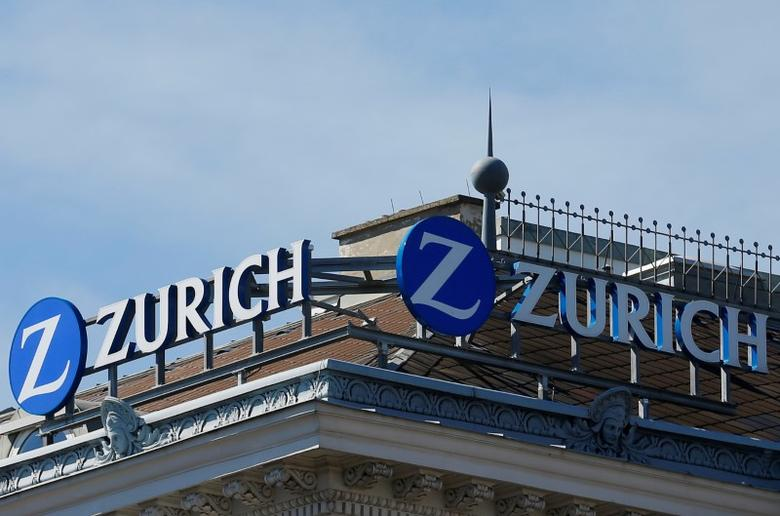 The logo of Zurich insurance company is seen on the roof of an office building in Vienna, Austria, September 4, 2016. REUTERS/Heinz-Peter Bader/File Photo