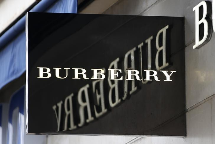 The logo of Burberry outlet store is seen in Paris, France, March 10, 2016.   REUTERS/Charles Platiau/Files