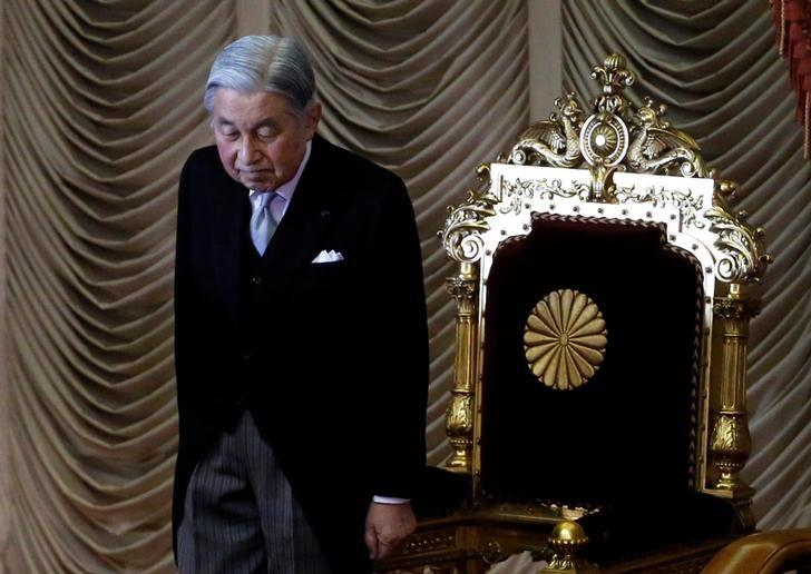 Japan's Emperor Akihito makes appearance to open the ordinary session of parliament in Tokyo, Japan, January 20, 2017. REUTERS/Toru Hanai/Files