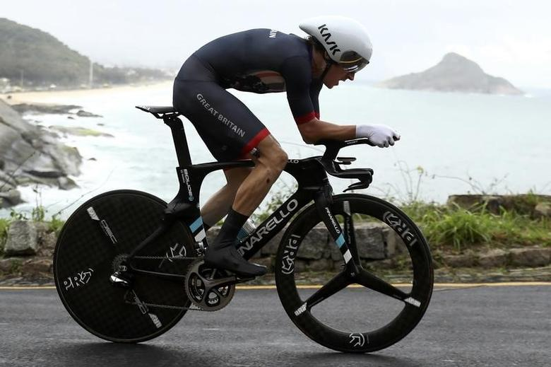 2016 Rio Olympics - Cycling Road - Final - Men's Individual Time Trial - Pontal - Rio de Janeiro, Brazil - 10/08/2016. Geraint Thomas (GBR) of United Kingdom competes. REUTERS/Bryn Lennon/Pool