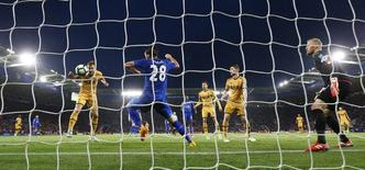 Tottenham's Harry Kane scores their third goal.  Reuters / Darren Staples Livepic