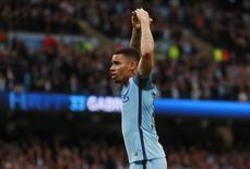 Gabriel Jesus comemora gol do Manchester City   16/5/17         Reuters / Jason Cairnduff