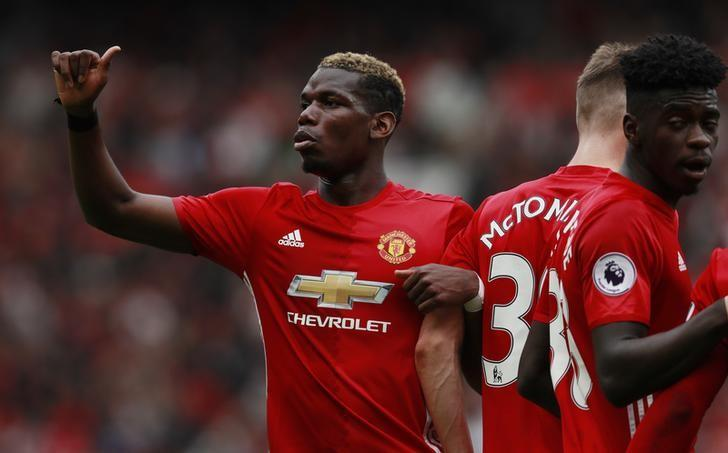 Britain Football Soccer - Manchester United v Crystal Palace - Premier League - Old Trafford - 21/5/17 Manchester United's Paul Pogba Action Images via Reuters / Jason Cairnduff Livepic/Files