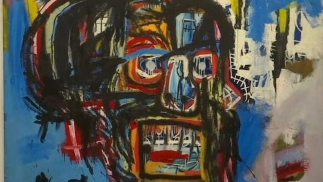 5月18日、米競売会社サザビーズがニューヨークで行った現代美術オークションで、米画家のジャンミシェル・バスキアの作品が1億1050万ドル(約123億円)と現代美術作品としては過去2番目の高額で落札された。入札合戦の末、ファッション通販サイト「ZOZOTOWN(ゾゾタウン)」を運営するスタートトゥデイの前沢友作社長が落札した。写真はロイタービデオの映像から(2017年 ロイター)