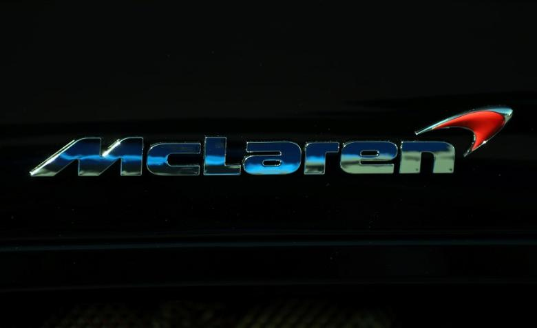 A McLaren logo is seen on a car in Monaco September 30, 2016.  REUTERS/Eric Gaillard