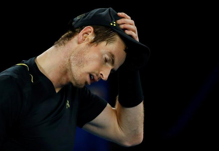 Tennis - Australian Open - Melbourne Park, Melbourne, Australia - 18/1/17 Britain's Andy Murray reacts during his Men's singles second round match against Russia's Andrey Rublev. REUTERS/Thomas Peter/Files