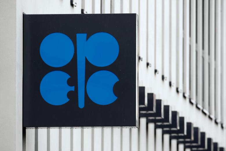 FILE PHOTO - The logo of the Organization of the Petroleum Exporting Countries (OPEC) is pictured on the wall of the new OPEC headquarters in Vienna March 16, 2010.  REUTERS/Heinz-Peter Bader/File Photo
