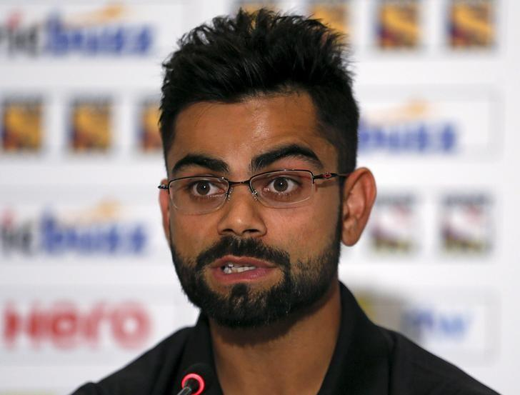 India's cricket captain Virat Kohli speaks during a news conference in Colombo, August 5, 2015. REUTERS/Dinuka Liyanawatte/Files