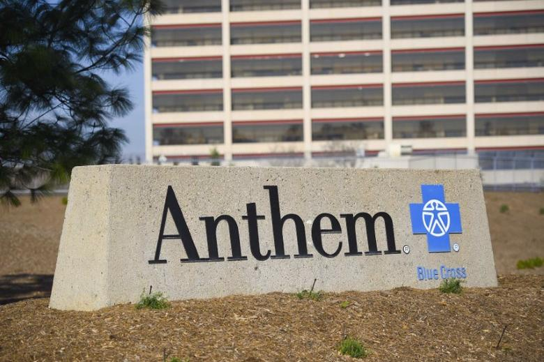 FILE PHOTO: The office building of health insurer Anthem is seen in Los Angeles, California February 5, 2015. REUTERS/Gus Ruelas