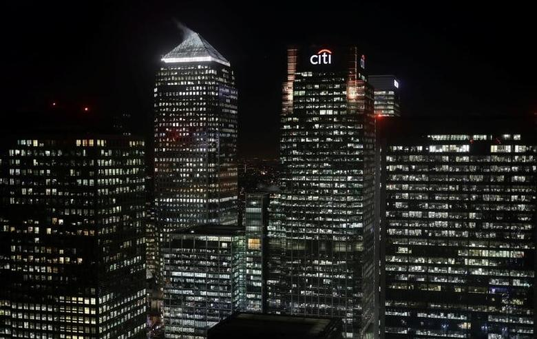 The Citibank building is seen in the financial district of Canary Wharf in London, Britain January 19, 2017. Picture taken January 19, 2017.  REUTERS/Kevin Coombs
