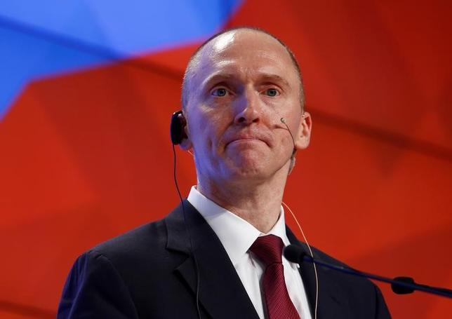 5月24日、米大統領選でトランプ陣営の外交顧問を務めたカーター・ページ氏(写真)が、大統領選へのロシア介入疑惑を調査する下院委員会で6月6日に証言する。モスクワで昨年12月撮影(2017年 ロイター/Sergei Karpukhin)