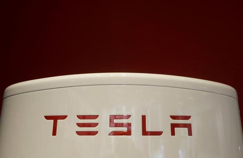 A Tesla supercharger is pictured at the Tesla store in Sydney, Australia, March 13, 2017.   Picture taken March 13, 2017.   REUTERS/Jason Reed -