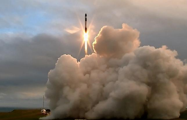 A supplied image of the launch and maiden flight of a battery-powered, 3-D printed rocket built by Rocket Lab, a Silicon Valley-funded space launch company, at New Zealand's remote Mahia Peninsula, May 25, 2017. Rocket Lab/Handout via REUTERS