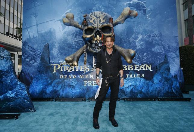 "The Premiere of Disney's ""Pirates of the Caribbean: Dead Men Tell No Tales""  – Los Angeles, California, U.S., 18/05/2017 - Actor Johnny Depp. REUTERS/Mario Anzuoni"