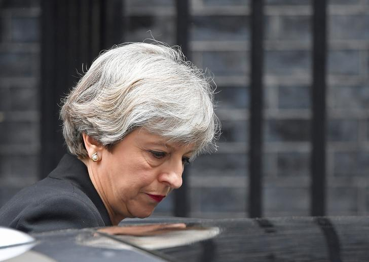 Britain's Prime Minister Theresa May leaves 10 Downing Street in London, May 23, 2017. REUTERS/Toby Melville