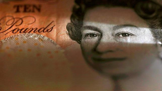 An English ten Pound note is seen in an illustration taken March 16, 2016.  REUTERS/Phil Noble/Illustration/Files